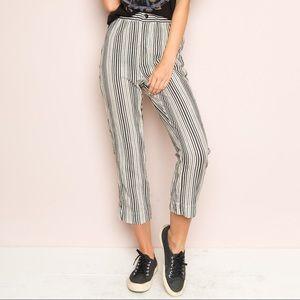 Brandy Melville Striped, Crop Tilden Pant